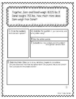 Differentiated Word Problems for Math Talks: Adding and Subtracting Decimals