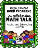 Differentiated Word Problems for Math Talks: Adding and Su