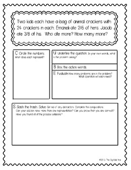 Differentiated Word Problems: Adding, Subtracting, & Multiplying Fractions 4.NF