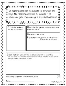 Differentiated Word Problems for Math Talks: Fourth Grade NBT Whole Numbers