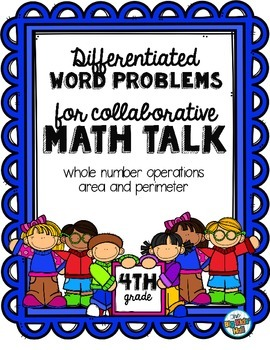 Differentiated Word Problems for Math Talks: Fourth Grade