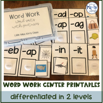 Word Work Centers for Kinder or Special Needs, now with Digital Google Slides™