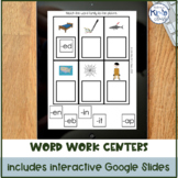 Word Work Centers for Kinder or Special Education, with Di