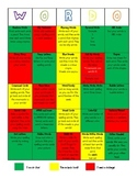 Differentiated Word Work Choice Board
