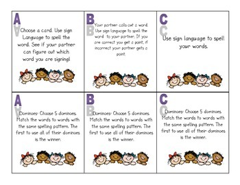 Differentiated Word Work Task Cards