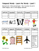 Differentiated Word Work & Vocabulary Packet - Compound Words