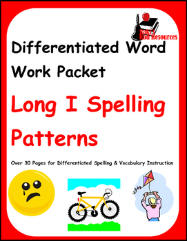 Differentiated Word Work & Vocabulary Packet - Long I