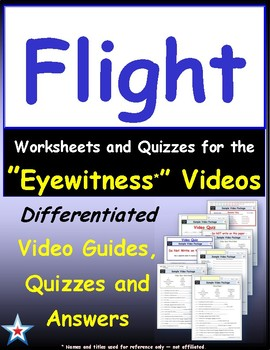 Differentiated Worksheet, Quiz, Ans for Eyewitness * - Flight