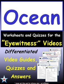 Differentiated Worksheet, Quiz, Ans for Eyewitness * - Ocean
