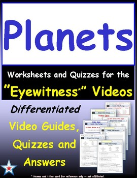Differentiated Worksheet, Quiz, Ans for Eyewitness * - Planet