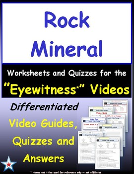 Differentiated Worksheet, Quiz, Ans for Eyewitness * - Rock Mineral