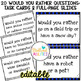 Differentiated Would You Rather Icebreaker Activities with Sentence Frames