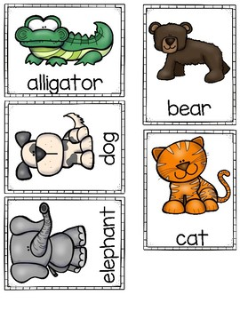 Differentiated Write the Room-Alphabet Animals