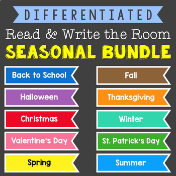 Differentiated Read & Write the Room {Seasonal BUNDLE}