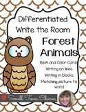 Differentiated Write the Room-Forest Animals