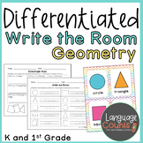 Differentiated Write the Room Geometry- 2D and 3D Shapes