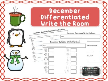 Differentiated Write the Room Growing Bundle