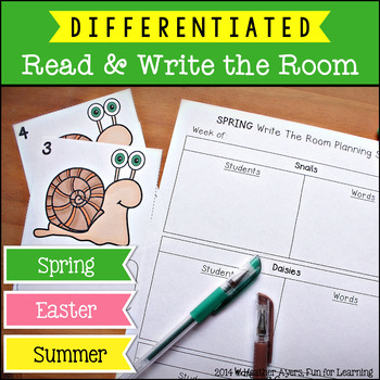 Read & Write the Room {Spring, Easter, Summer}
