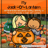 How to Make a Jack- O- Lantern..Sequence Activity