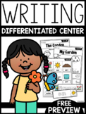 Differentiated Writing Center   FREE PREVIEW  
