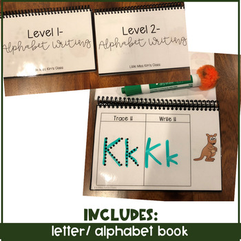 Differentiated Writing Centers & Alphabet / Letter Writing Book