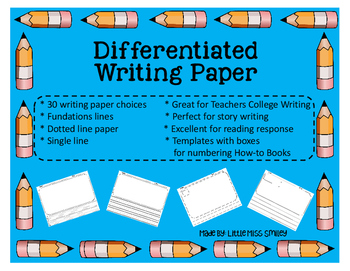 Differentiated Writing Paper