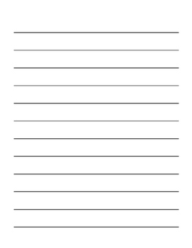 Differentiated Writing Paper Template