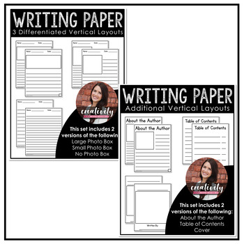 Differentiated Writing Paper - THE BUNDLE