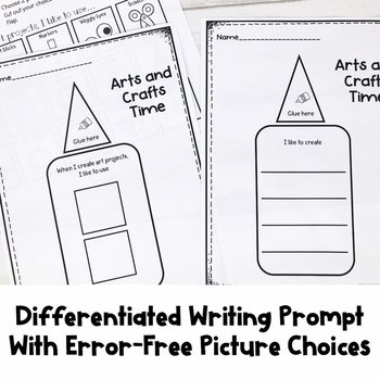 Differentiated Writing Prompts | Arts and Crafts | Special Education Resource