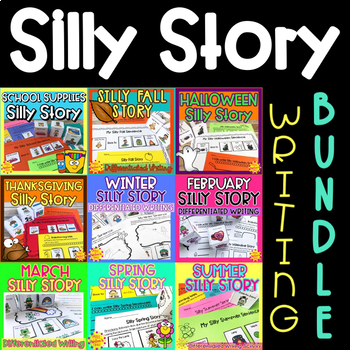 Differentiated Writing Prompt BUNDLE   Special Education and Autism Resource