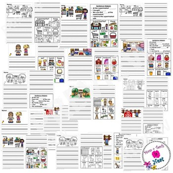 Differentiated Kindergarten Writing Prompts with Visuals and Sentence Frames