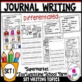 Kindergarten Journal Writing Prompts Differentiated- Set 1