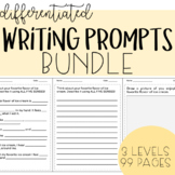 Differentiated Writing Prompts for Special Education BUNDLE!
