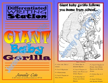 Differentiated Writing Station - Giant Baby Gorilla