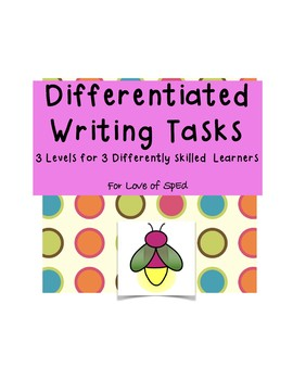 Differentiated Writing Tasks