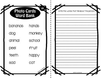 Differentiated Writing Tasks Set 1 {for use with Webber Photo Cards}