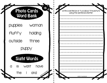 Differentiated Writing Tasks Set 2 {for use with Webber Photo Cards}
