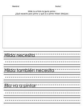 Differentiated Writing prompt in Spanish!