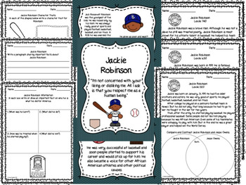 Black History Month ~ Jackie Robinson ~ Differentiated Activities