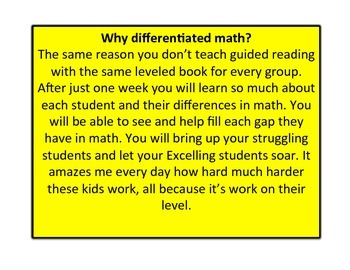 Differentiated f\Formative Based Basic Addition Unit K-1st grade CCSS