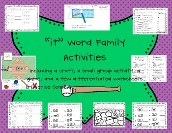 Differentiated -it Word Family Activities