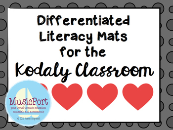 Differentiated literacy mats for the Kodaly classroom