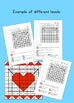Differentiated mental math mystery picture pack - February & Valentine's day
