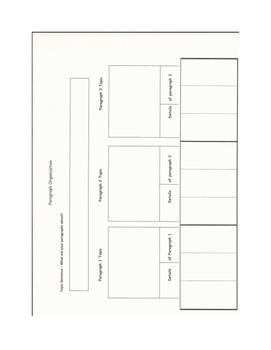 Differentiated multi paragraph graphic organizer