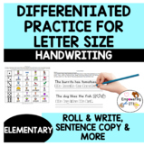 Differentiated practice for LETTER SIZE : tall & diving le