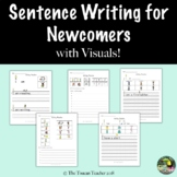 Differentiated sentence writing for newcomers with visuals