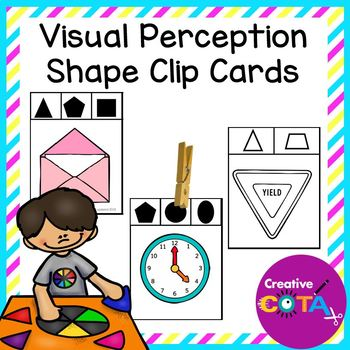 Differentiated shape clip cards