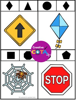 Visual Perception: Differentiated shape clip cards