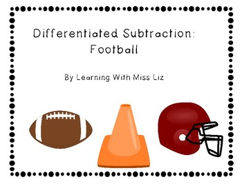 Differentiated subtraction problems: Football themed task cards