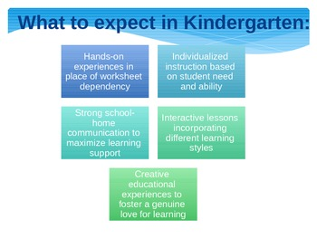 Differentiated teaching in Kindergarten